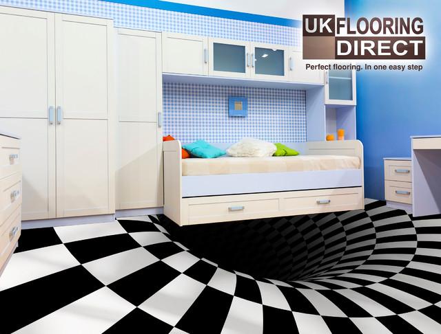 Optical Illusion Flooring Concept Modern Vinyl