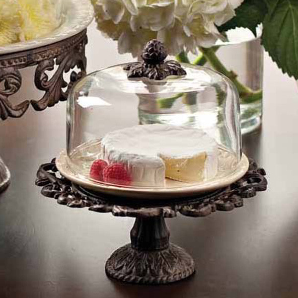 The GG Collection - Covered Dessert Pedestal traditional-serveware