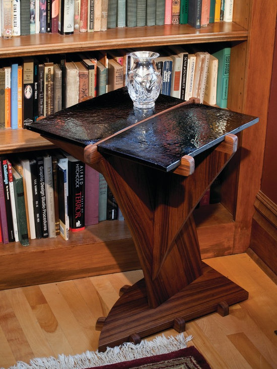 AuroraStone Midnight Traveler Accent Table -