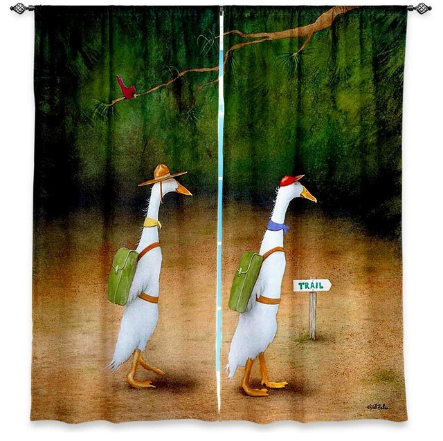 Window Curtains Unlined - Will Bullas Backquackers traditional-curtains