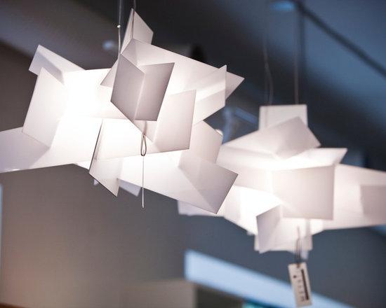 Lighting - White acrylic pendant