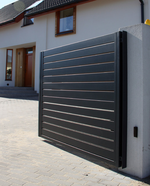 Arete horizon contemporary home fencing and gates for Modern main gate designs