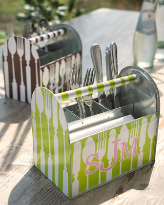 Personalized Flatware Caddy - traditional - flatware - by Horchow