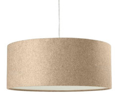 Short Drum Pendant, Natural Linen modern pendant lighting