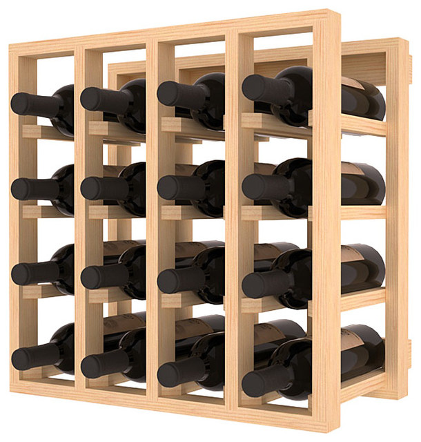 Lattice Stacking Wine Cubicle in Ponderosa Pine contemporary-wine-racks