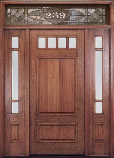 Fiberglass craftsman style front doors - Exterior Wood Doors Craftsman Craftsman Front Door Featuring