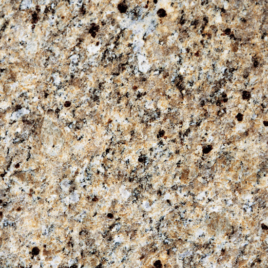 New Venetian Gold Granite with White Cabinets - Traditional ...
