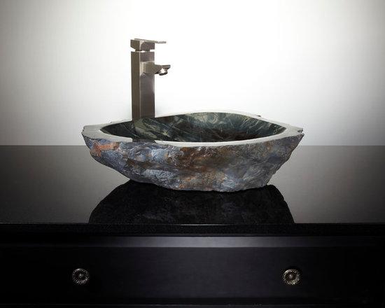 Natural Vessel Sinks (limited engagement) - Quin Cobble Stone Vessel Sink, Signature Hardware