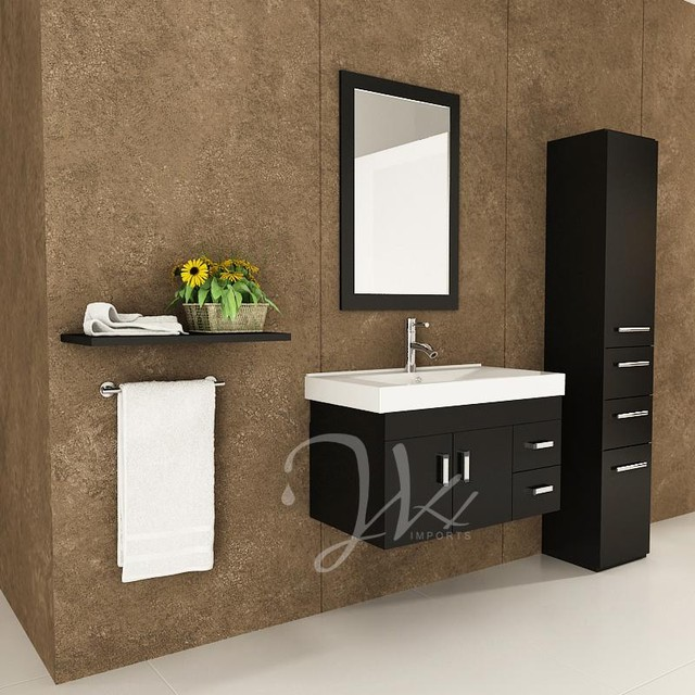 35 5 Lyra Single Bathroom Vanity Modern San Diego By Bathgems