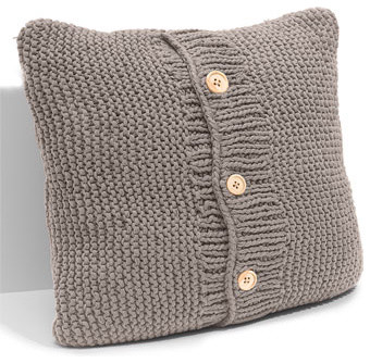 Chunky Knit Accent Pillow traditional-decorative-pillows