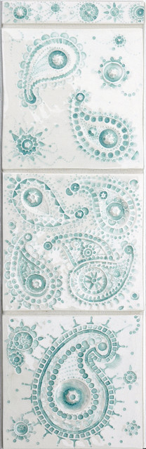 Paisley Series eclectic kitchen tile