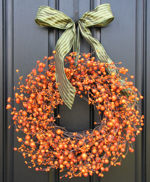 Fall Wreath The Pumpkin Wreath for Autumn Decor by Two Inspire You eclectic-wreaths-and-garlands