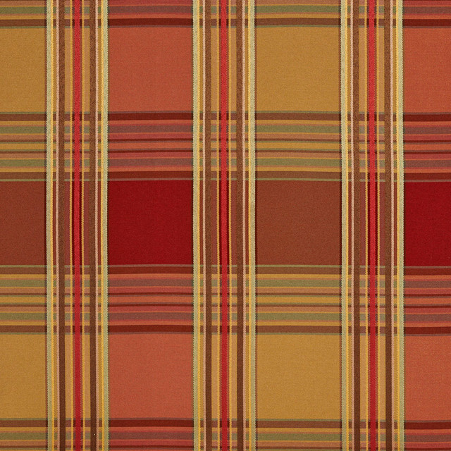 Red And Green Shiny Striped Plaid Faux Silk Upholstery