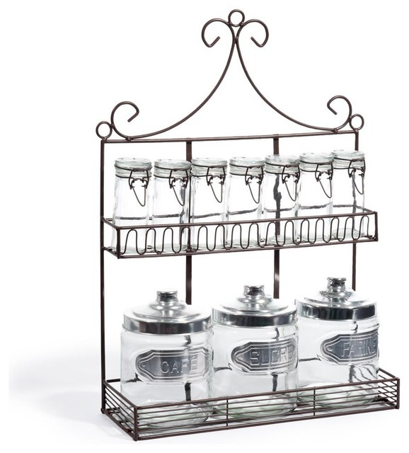 Eclectic Spice Jars And Spice Racks by Maisons du Monde
