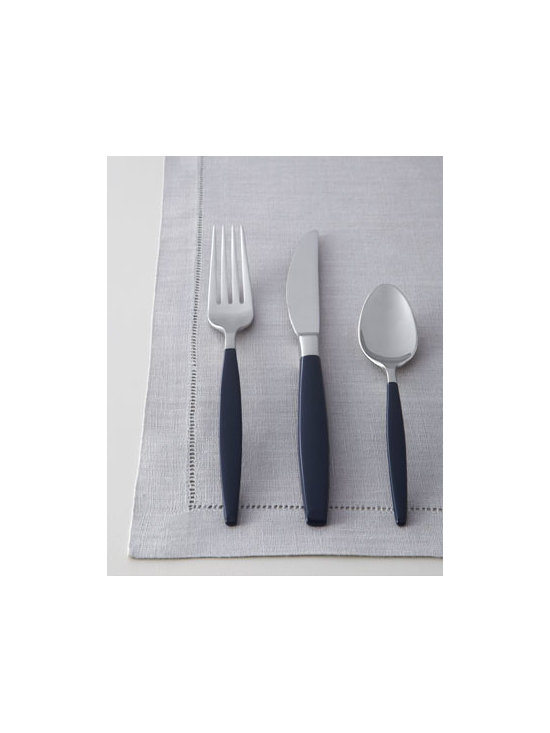 "kate spade new york - kate spade new york Five-Piece Navy ""West 4th Street"" Flatware Place Setting - Sleek yet sassy, this flatware from kate spade new york features sleek handles enameled in midnight navy. Made of 18/10 stainless steel. Dishwasher safe. Five-piece place setting includes dinner knife, dinner fork, salad fork, spoon, and tablespoon....."