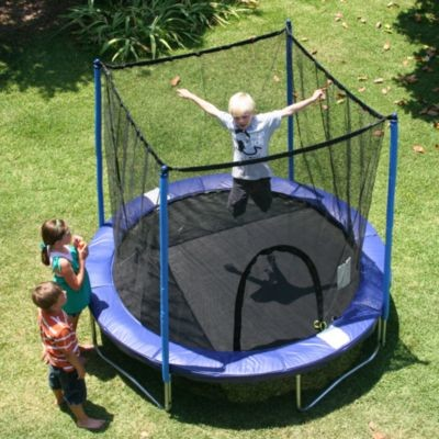 playing trampolines