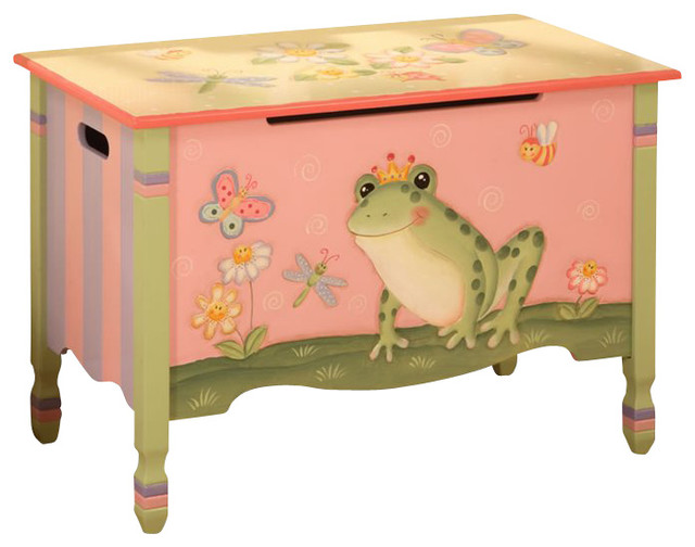 Teamson Kids Magic Garden Hand Painted Toy ChestBox