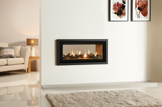 Double Sided Gas Fireplace 640 x 426