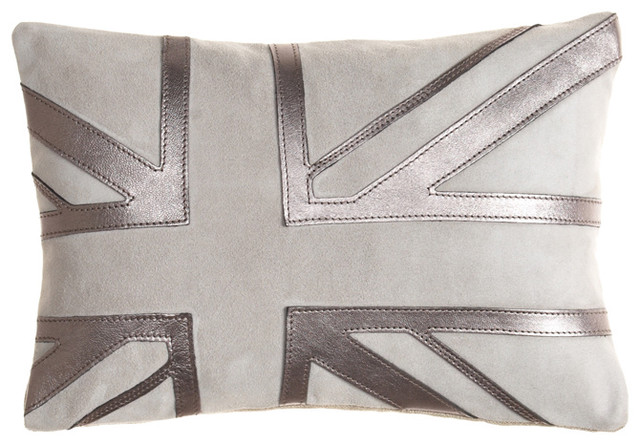 UK Goat Suede Pillow eclectic-pillows