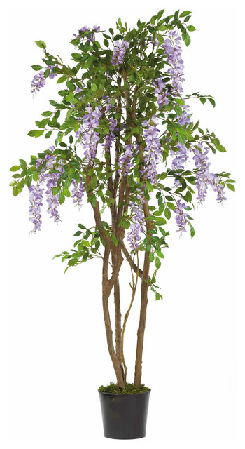 Nearly Natural 5' Wisteria Silk Tree traditional-artificial-flowers