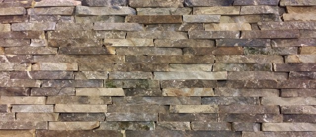 Natural stone veneer traditional siding and stone for Glue on brick veneer