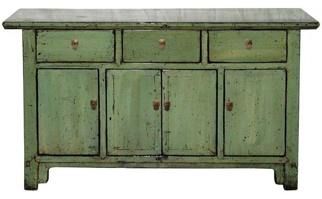 Antique C 1890s Green Shandong Buffet Modern Buffets And Sideboards by Chairish