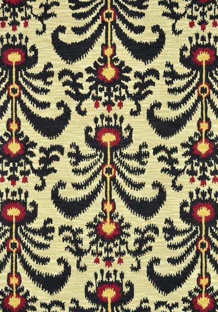 "Milano ML-05 3'6"" x 5'6"" Beige, Black Rug contemporary-rugs"