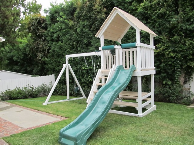 Polyvinyl Play Set craftsman-outdoor-swingsets