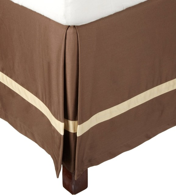 300 Thread Count King (Hotel) Bed Skirt Cotton Solid - Mocha/Honey traditional-bedskirts