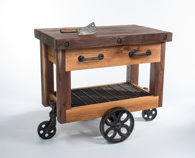 Butchers Block Cart Eclectic Kitchen Islands And Carts Nashville By Walnut Wood