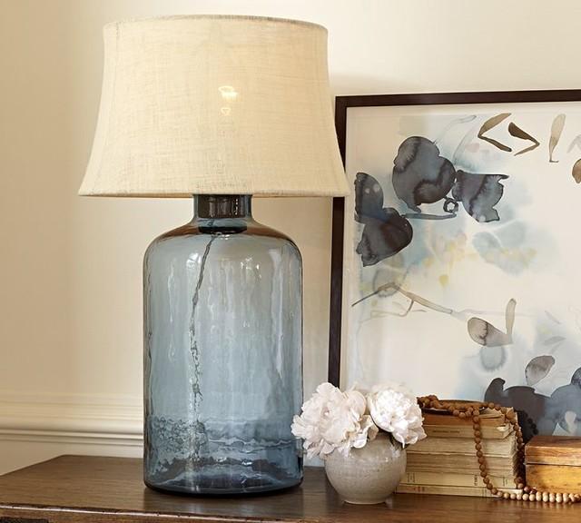 glass cylinder table lamp base light blue contemporary lamp bases. Black Bedroom Furniture Sets. Home Design Ideas