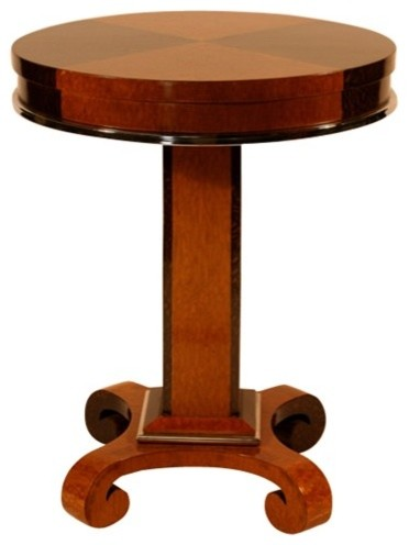 1930s French Art Deco Macassar and Maple Side Table contemporary-side-tables-and-end-tables