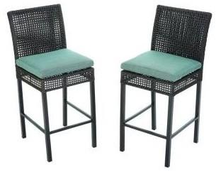 Hampton bay patio furniture fenton high patio dining chairs with