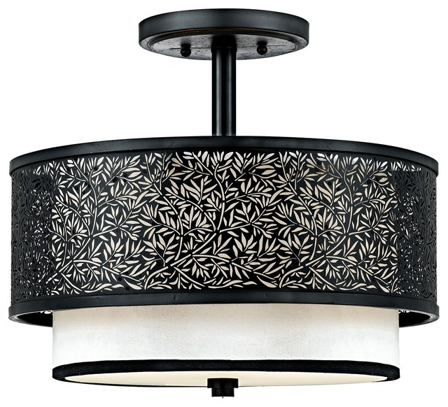 asian utopia collection 15 quot wide ceiling light fixture