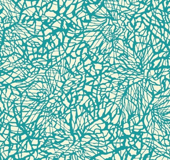 Monterey Pattern Fabric in Wingteal - Contemporary ...