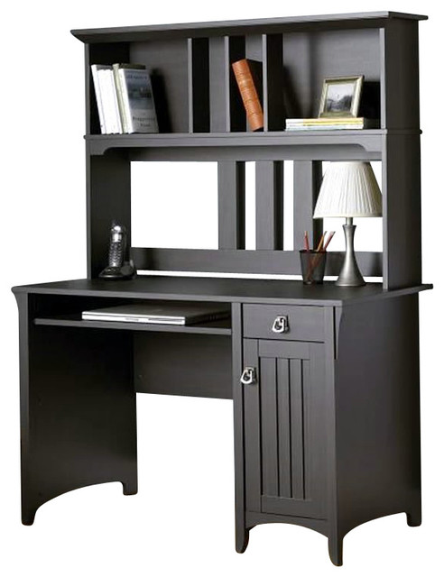 Bush Salinas Mission Desk With Hutch In Aged Tobacco