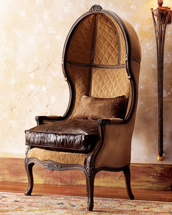Old Hickory Tannery Leather Balloon Armchair traditional-armchairs-and-accent-chairs