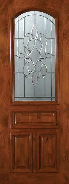 Slab Single Door 96 Wood Alder New Orleans 3 Panel Arch