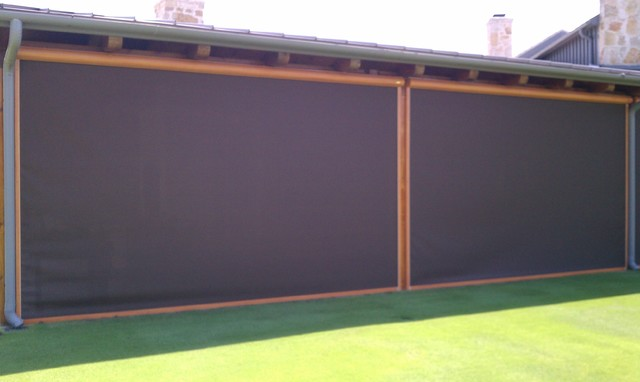Outdoor Screen Shades Manual Motorized Transitional