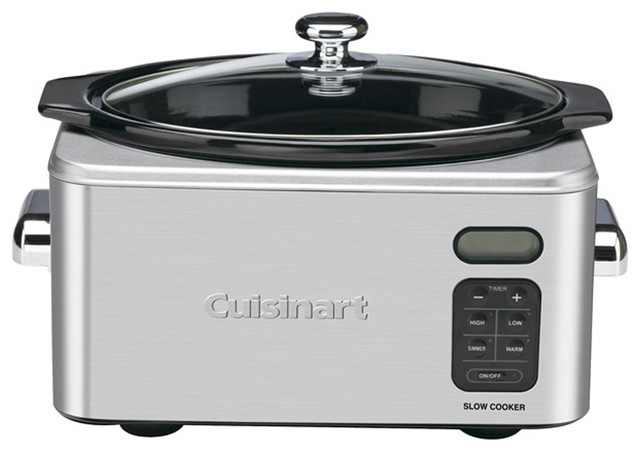 Cuisinart 6.5-Quart Programmable Stainless Steel Slow Cooker contemporary-slow-cookers