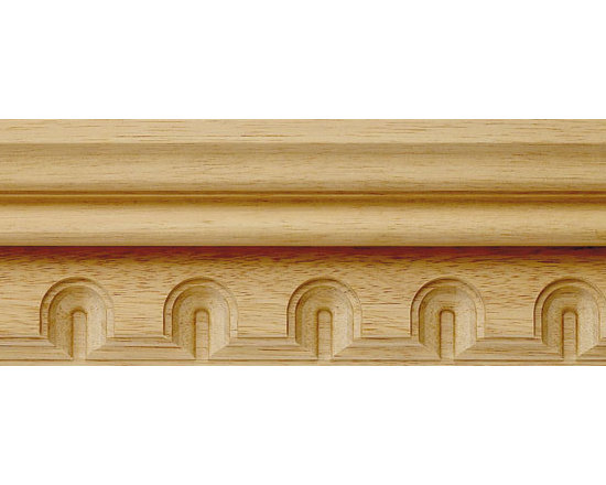 "Inviting Home - Asheville Carved Wood Crown Molding - wood crown molding 3-1/2""H x 1-1/2""P x 3-3/4""F sold in 8 foot length (3 piece minimum required) Wood panel molding with corners specification: Outstanding quality panel molding profile carved from high grade kiln dried solid bass or red oak hardwood. Moldings are machine carved for accuracy of alignment of the panel molding with the corners. Panel molding and corners sold unfinished and can be easily stained painted or glazed. The installation of the wood molding should be treated the same manner as you would treat any wood molding: all molding should be kept in a clean and dry environment away from excessive moisture. acclimate wooden moldings for 5-7 days. when installing wood moldings it is recommended to nail molding securely to studs and glue all mitered corners for maximum support."