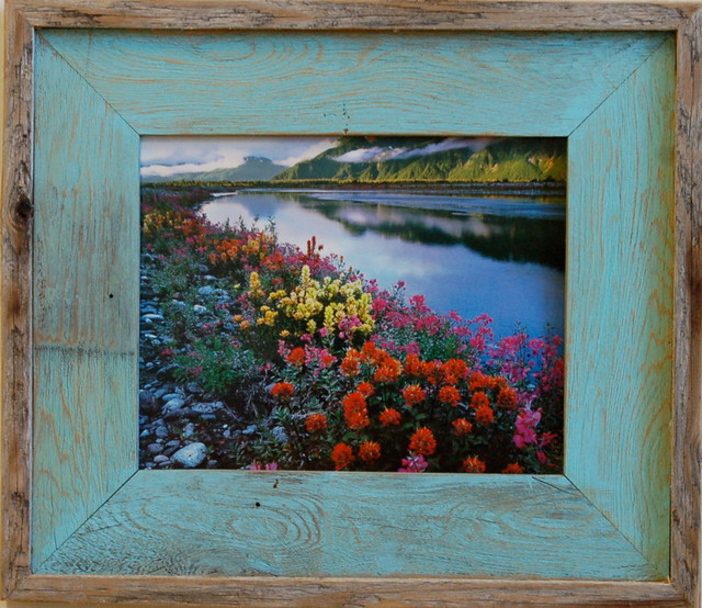 24x36 barnwood picture frame lighthouse robin egg blue for 11x14 table top frame