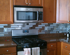 Stainless Steel Tiles contemporary kitchen tile