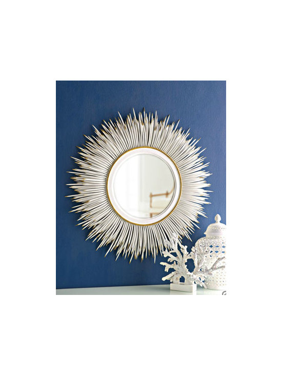 """White """"Porcupine Quill"""" Mirror - Reflect all that spring sunlight and add a burst of chic style to your walls with this fun mirror."""
