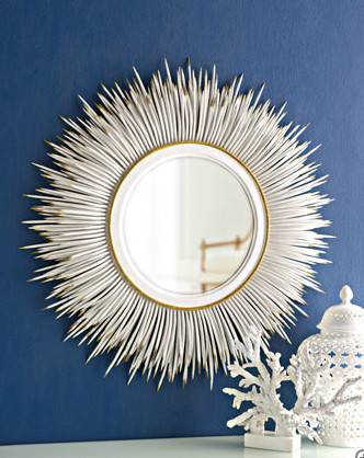 """White """"Porcupine Quill"""" Mirror eclectic-mirrors"""