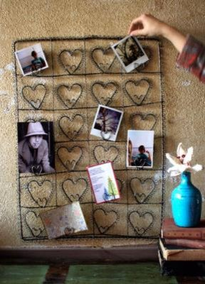 wire heart photo/Card Holder eclectic-picture-frames