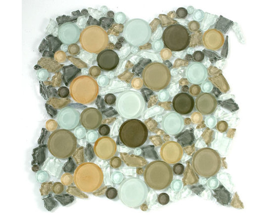 Lagoon glass tile by Mirage - Lagoon glass tile mosaic Mesh mounted for easy installation.