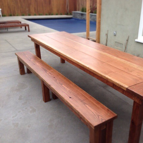 Redwood Outdoor Farmhouse Dining Table Rustic Dining Tables Los