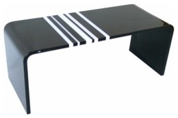 Spectrum West | Stripe Cocktail Table modern-coffee-tables