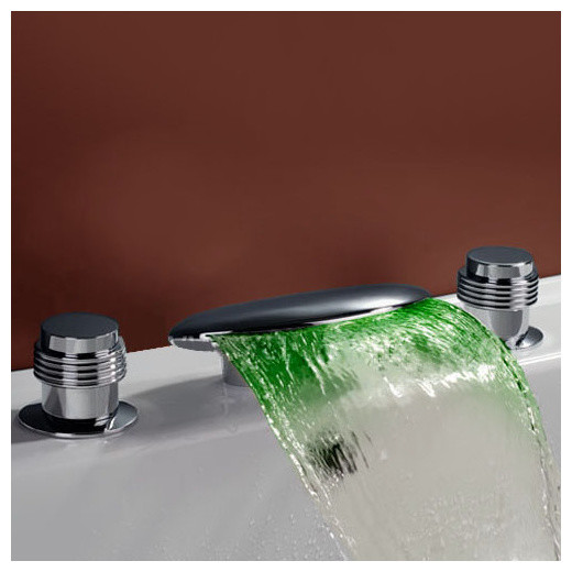 Sumerain S1235CM LED Bathroom Sink Faucet modern-bathroom-sink-faucets